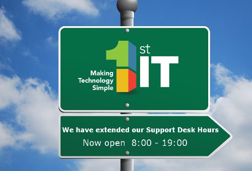 Good news! Extended Help-desk hours at 1st IT!
